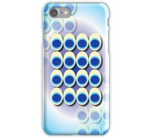 Peacock Blue Eyes Abstract iPhone Case/Skin