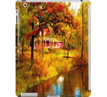 House on Pine River,Wisconsin U.S.A. iPad Case/Skin
