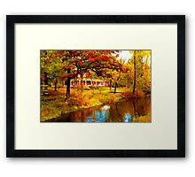 House on Pine River,Wisconsin U.S.A. Framed Print