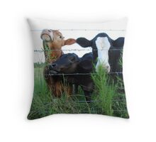 The Three MOOsketeers  Throw Pillow