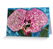 Dotted Orchid Greeting Card