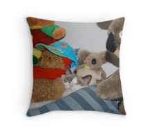 Lily-Rose & Her Teddy Bear Friends Throw Pillow