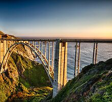 Pacific Highway Bridge by George Oze