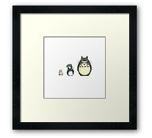 My neighbor Totoro! - Height comparison Framed Print