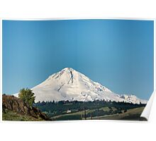 Mt. Hood and valley Poster