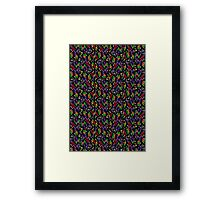 Colored Only in a Square World Framed Print