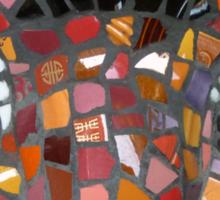Mosaic Tiger mask Sticker