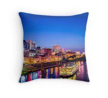 Nashvegas - Nashville Skyline at Night Throw Pillow