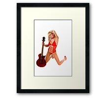 She is Just A Rawk'n Rolla Framed Print