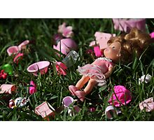 Discarded Toys Photographic Print