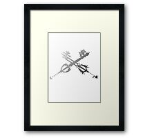 Oathkeeper and Oblivion Black and White Framed Print