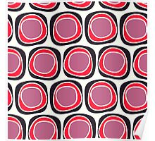 Pink and Black Geometric Pattern Poster