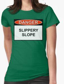Danger - Slippery Slope Womens Fitted T-Shirt