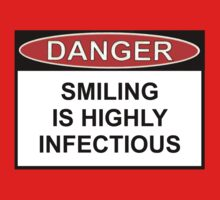 Danger - Smiling Is Highly Infectious One Piece - Long Sleeve