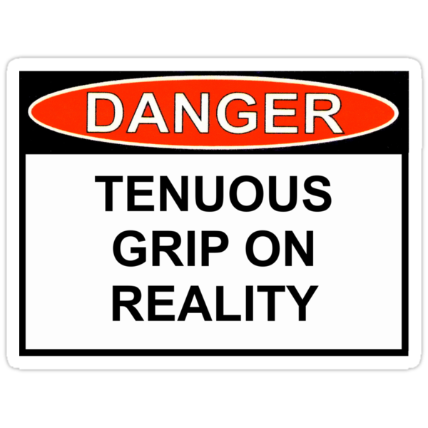 Danger - Tenuous Grip On Reality by Ron Marton