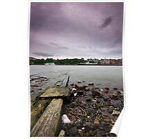 Old Pier, River Thames Poster