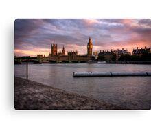 Big Ben and the Thames Canvas Print