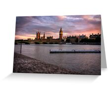 Big Ben and the Thames Greeting Card