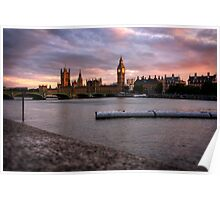 Big Ben and the Thames Poster