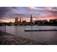 Big Ben and the Thames Photographic Print