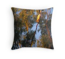 A Flash of Gold in The Trees Throw Pillow
