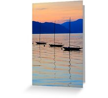 3 little boats Greeting Card
