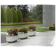 Row of Planters, Preston Temple Forecourt Poster