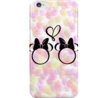 minnie & minnie - roses iPhone Case/Skin