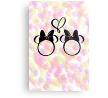 minnie & minnie - roses Metal Print