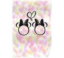 minnie & minnie - roses Poster