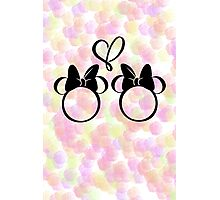 minnie & minnie - roses Photographic Print