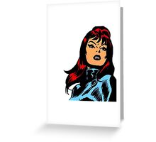 Vintage Black Widow Greeting Card
