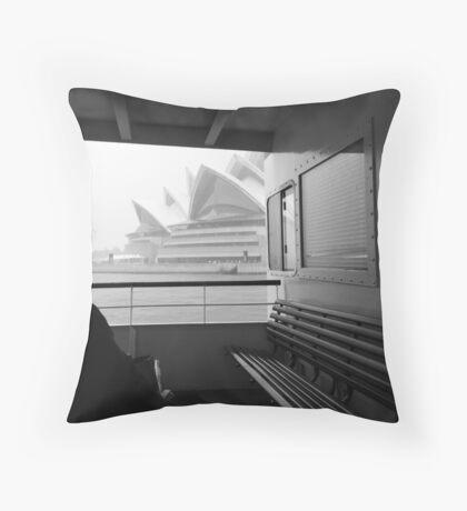 Sneaky Sydney Opera House  Throw Pillow