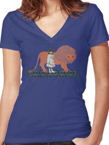 Pet Lion Women's Fitted V-Neck T-Shirt
