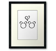 mickey & mickey Framed Print