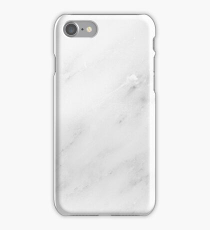 White marble. iPhone Case/Skin