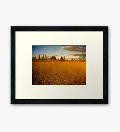 Parched - Dangars Lagoon, Northern Tablelands, NSW, Australia Framed Print