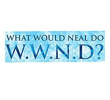 WWND - What Would Neal Do? Photographic Print