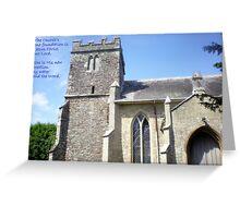 Bell Tower of Lytchett Parish Church Greeting Card