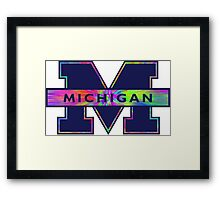 University of Michigan Logo  Framed Print