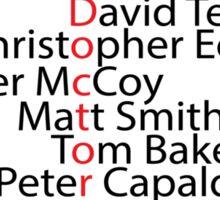 Doctor Who word art Sticker
