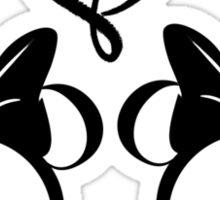 minnie & minnie - white Sticker