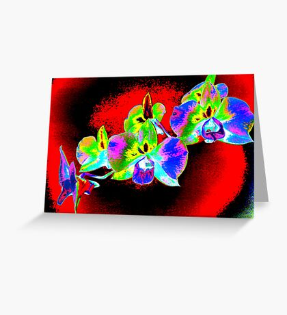Psych Red Orchid Greeting Card