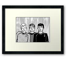 Star Trek Trio Framed Print