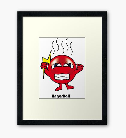 Anger Ball Framed Print