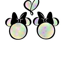 minnie & minnie - rainbow filling by mickiemouse