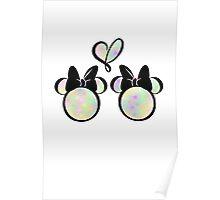 minnie & minnie - rainbow filling Poster