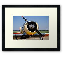 North American AT-6 Harvard Engine (SAAF 7637) (ZU-BBF) Framed Print