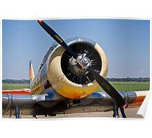 North American AT-6 Harvard Engine (SAAF 7637) (ZU-BBF) Poster