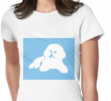 Coco the wonder bichon (contour) Womens Fitted T-Shirt